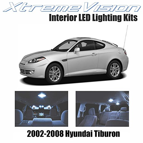 XtremeVision Interior LED for Hyundai Tiburon 2002-2008 (4 Pieces) Cool White Interior LED Kit + Installation Tool