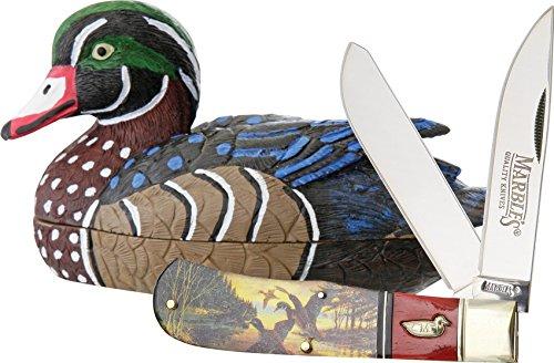 Marbles Wood Duck Knife Decoy Set
