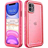 Cozycase Compatible with Waterproof iPhone 11 case, Built-in Screen Protector, Full-Body Rugged Bumper Sealed Case Cover, Shockproof Dustproof Waterproof Case for iPhone 11 6.1 inch (Pink)