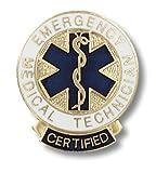 EMT Emergency Medical Technician (EMT) Certified Emblem Pin - Round