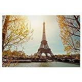 artboxONE Poster 30x20 cm Städte/Paris Ufer der Seine in Paris - Bild Paris Hauptstadt Seine