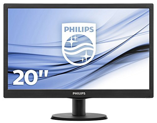 Philips Monitor per PC, 19.5 Pollici, 16:9, Ingresso VGA, 1600x900, Nero