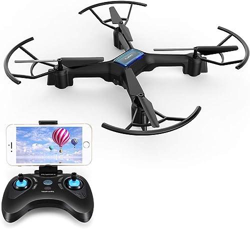 QYLT Drohne mit Kamera HD 720P live übertragung, WiFi FPV RC Quadrocopter, Gravitationssensor, KopflosModus, 3D Flips Notlandung RC Drohne für Anf er