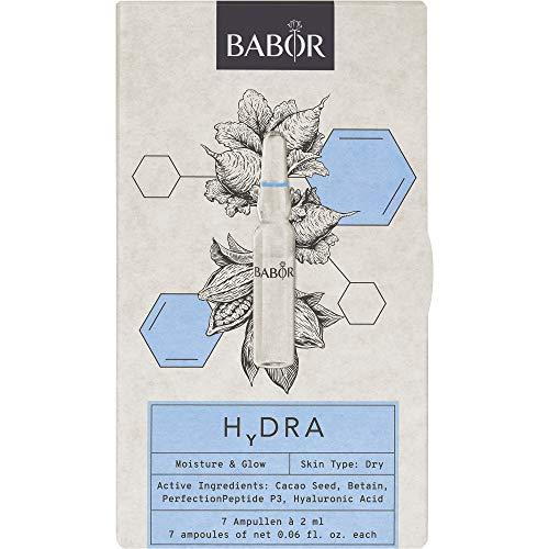 BABOR AMPOULE CONCENTRATES HYDRA, limitierte Ed. 2021, mit Hyaluronsäure, extra Feuchtigkeit und mehr Ausstrahlung, gegen Trockenheitsfältchen, 14ml