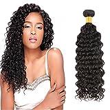 Huarisi Cheveux Brésilien virginal profond bouclé tissage 100% Vrais Cheveux Humains extensions couleur de noir naturel trame 1...