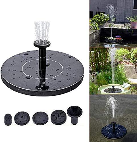 SBRTL Solarbrunnen 2.5W Kreis Wasserpumpe Schwimmsolarbrunnen-Pumpe 5 Düsen Für Vogel-Bad Fischteiche Teich Oder Garten Merkmale
