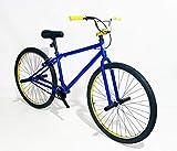2021 R4 Complete Aluminum 29 Inch BMX Cruiser Bike Bicycle, Blue & Gold