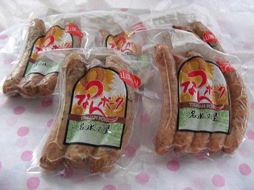 津南町 ウイルスフリーポークを手作りウインナー山菜入り3本×6袋 (冷凍にて配送)