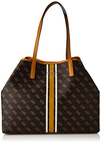 Guess Vikky Large Tote, BAGS HOBO para Mujer, marrón, Talla única
