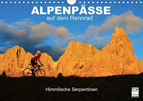 """Alpenpässe auf dem Rennrad\""""Himmlische Serpentinen\"""" (Wandkalender 2021 DIN A4 quer)"""