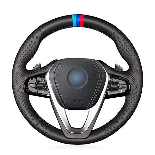 Preisvergleich Produktbild FANGPANLenkradabdeckung,  Für BMW G30 530i 540i 520d 530e 2016-2018 G32 GT 630i 630d 2017-2018,  Autolenkradabdeckung Geflecht am Lenkrad