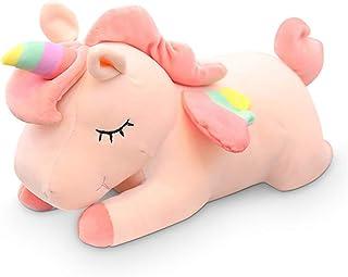 Plush Toy Pillows Plush Toy Stuffed Animal Home Decorations Unicorn Doll Pillow Full Down Cotton Pad Birthday Present (Col...