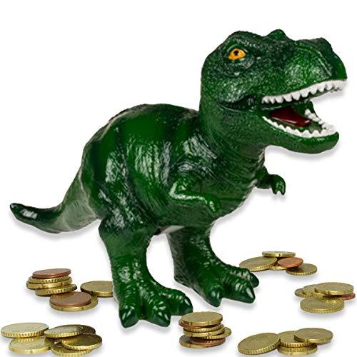 mtb more energy Spardose ''T-Rex Treasure XL'' - große Dino Dinosaurier Tyranosaurus Sparbüchse - HxLxB 22x32x13cm - Figur Deko Geschenk Sparschwein
