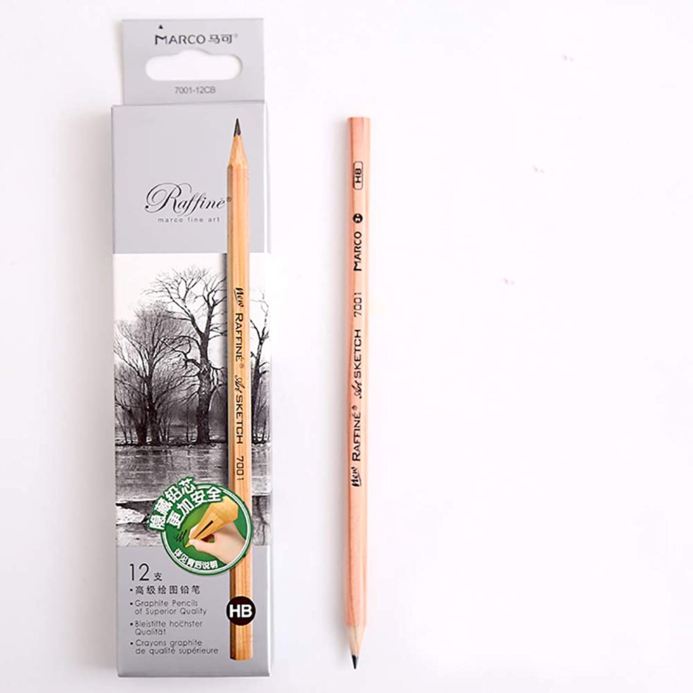 Sketch Pencil Log Pencil Drawing Pencil Art Pencils Sketch Travel Precision Graphite Pencils for Adults 12 Piece (HB)