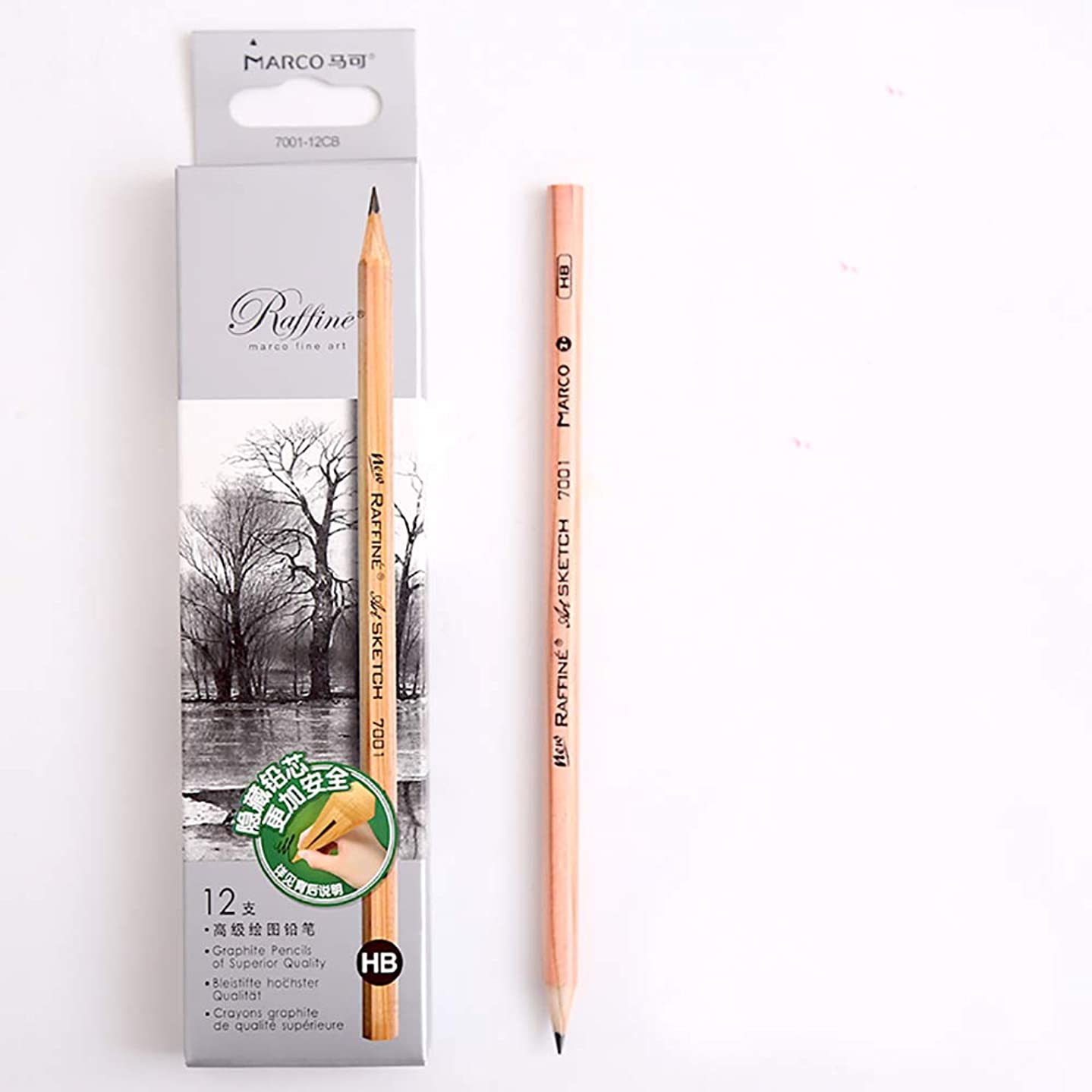 Sketch Pencil Log Pencil Drawing Pencil Art Pencils Sketch Travel Precision Graphite Pencils for Adults 12 Piece (HB)