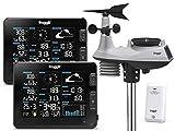 froggit Estación meteorológica inalámbrica profesional WH6000 Twin (2 unidades de...