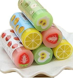 Set of 12 Cute Novelty Kawaii Art Fruit Erasers Bulk For Kids,School Classroom Rewards