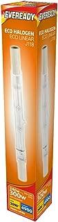 240v 230w (300w) Energy Saving Tungsten Halogen R7s Light Bulb 118mm 240v (Eveready S10114)