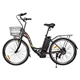 ECOTRIC 26' Electric Bicycle 350W Motor 36V/10AH Powerful Moped Throttle & Pedal Assist City Tire...