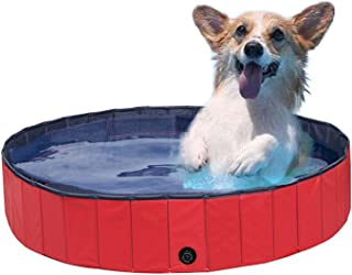 NACOCO Foldable PVC Dog Cat Water Pool Pet Outdoor Swimming Playing Pond Dogs Grooming Shower & Bath Accessories in Summer