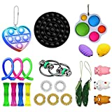 Wangduodu Fidget Toys Set Sensory Toys 23 Pezzi economici per Bambini Adulti Simple Dimple Fidget Toy Antistress e Strumenti Anti ansia Fidget Game Kill Time