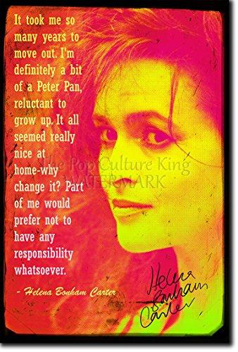 Helena Bonham Carter Kunstdruck (mit signierter Autogramm Nachbildung) Hochglanz Poster - Größe: 12 x 8 Inches (30x20cm)
