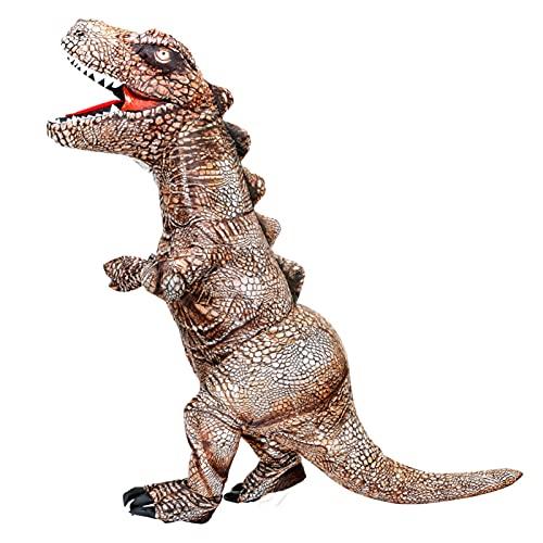JINSUOZY DXXLD Disfraz de dinosaurio negro para adulto, Halloween, dragón de fuego y ala para cosplay de tiranosaurio, Rex Cosplay Mascota Disfraz mujer hombre (color 1301, tamaño: altura 150 195 cm)