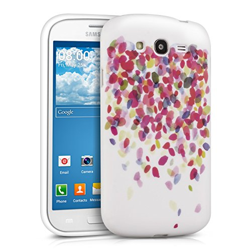kwmobile, Custodia protezione posteriore in silicone TPU per Samsung Galaxy Grand Neo / Duos, Design Coriandoli colorati,  Multicolore
