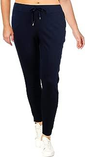 LAUREN RALPH LAUREN Womens Velvet Trim Draw Strings Sweatpants Navy XL