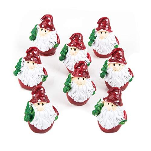Logbuch-Verlag 8 minifiguras de Papá Noel rojas para decoración de Navidad, regalo para clientes, niños, amigos