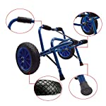 Newcod kayak cart kayak trolley carrier dolly trailer for canoe boat with no-flat airless tires wheels 10 【good quality】22x1. 5mm aluminum tube with rubber pads. 【pu wheel】with two pu solid wheels, don't need to inflate. 【capacity】this kayak cart can be loaded 165lbs.
