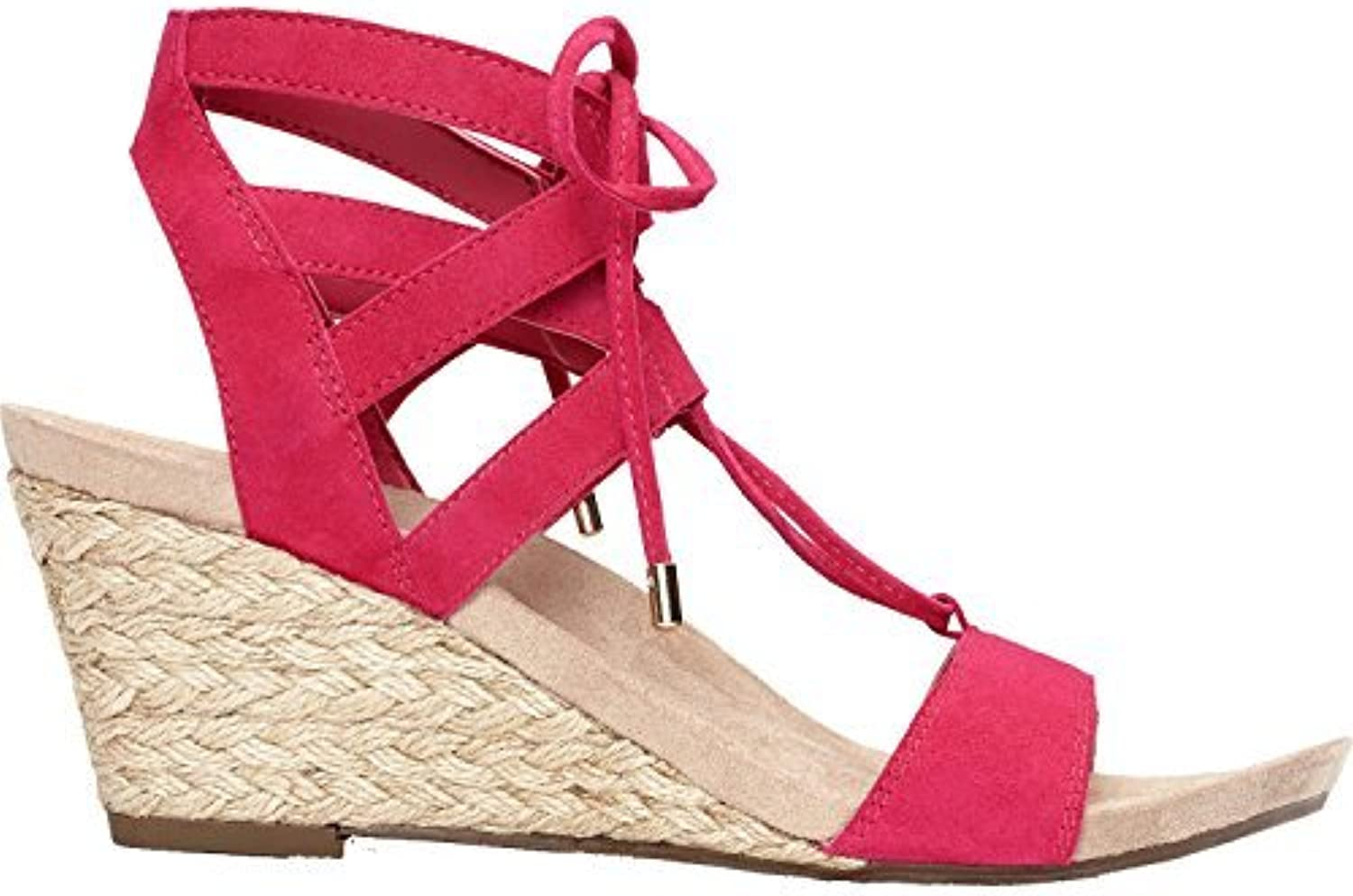 Vionic Womens Noble Tansy Suede Open Toe Casual Platform Sandals