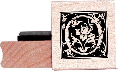 Tampon en caoutchouc alphabet - Lettre O à la William Morris