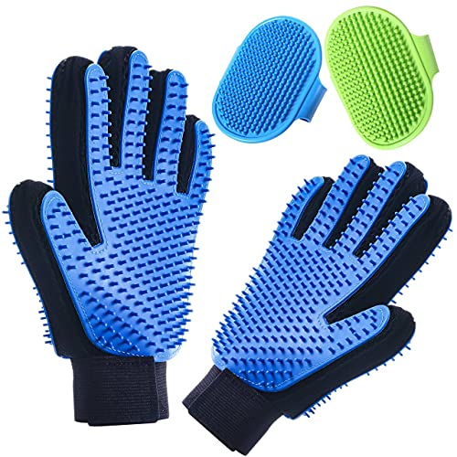Pet Grooming Gloves Double Sided with Sponges...