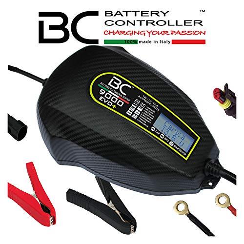 BC Battery Controller BC 9000 EVO+, Caricabatteria e Mantenitore Digitale LCD, Tester di Batteria e Alternatore per tutte le batterie Auto, Moto, Camper, RV ed Imbarcazioni 12V Piombo-Acido, 9A 1A