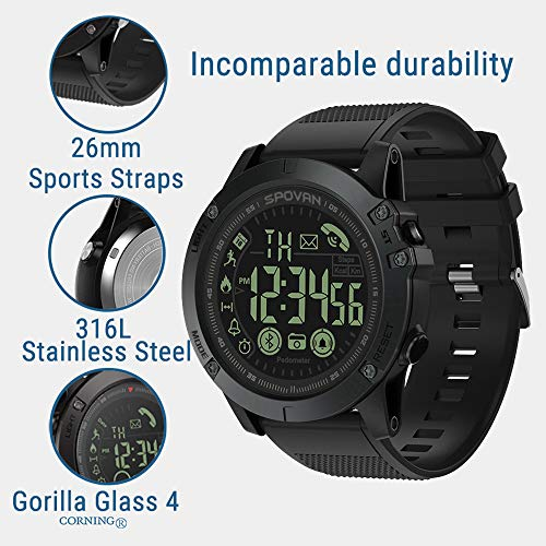 Birdfly Flagship Rugged Smartwatch 33-Month Standby Time 24h All-Weather Monitoring Under 20 Dollar (Black) 4