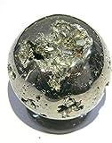Esfera de Pirita Cuarzo 100% Natural Piedra Dinero Dorada Mineral Bola Cristal (50mm)