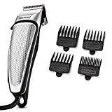 ch-ztq Hair Clippers for Men, Professional Men's Hair Clippers with Secure Fit Premium Cutting Combs, Professional Quality, Corded,Silver