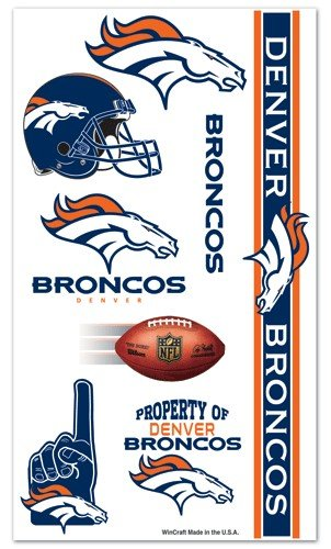 WinCraft NFL Denver Broncos 09405091 Tattoos