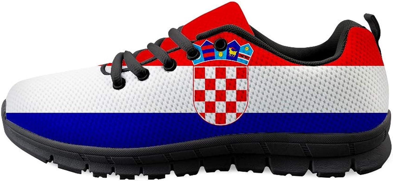 Owaheson Lace-up Sneaker Training shoes Mens Womens Croatia Flag