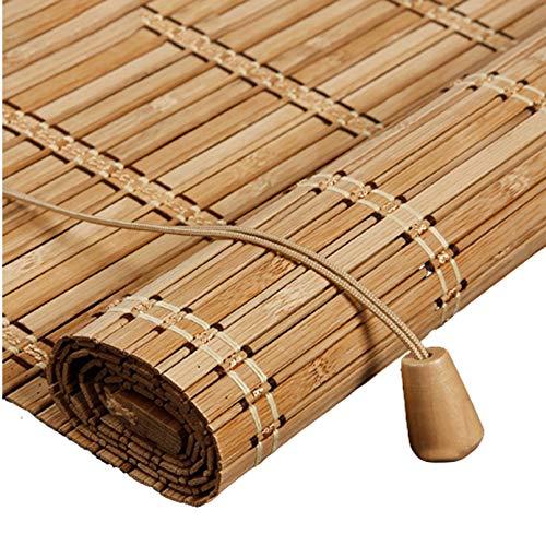 X1NGFU Persianas Enrollables de Bambú,Cortina de Bambu,Estores para Ventana Tipo Gancho,Persiana Enrollable,Persiana Toldo Vertical Cortinas Opacas,para Exteriores,Personalizable (70x140cm/28x55in)