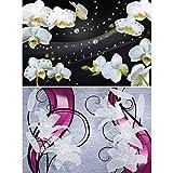 GREAT ART® Set mit 2 Poster – Blumen Grafik – Orchidee