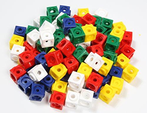 Unbekannt Dick-System 170100 100 Steckwürfel, 5 farbig