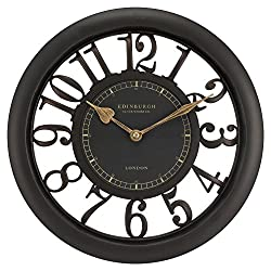 Equity by La Crosse 20858 11.5 Inch Brown Floating Dial Wall Clock