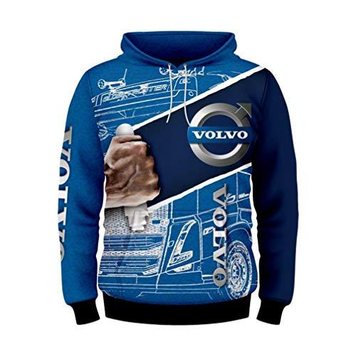 Unisex Long Sleeve Hoodie 3D Digital International Volvo Logo Print Sweatshirt Casual Sweatershirt...