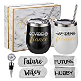 Engagement Gifts for Couples - Bride and Groom To Be Gift Set - Newly Engaged Gift Set for Him and Her - Unique Engaged Party Gifts Idea for Fiance & Fiancee