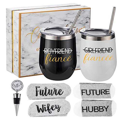 Engagement Gifts for Couples - Bride and Groom To Be Gift Set - Newly...