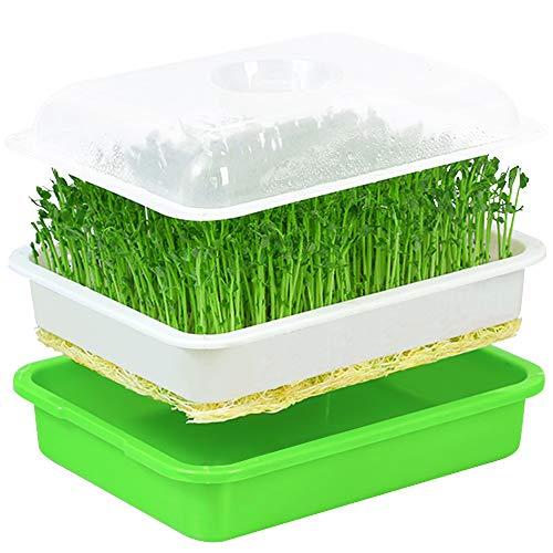 ZoneYan Seed Sprouter, Bandeja Germinadora de Brotes, Bandejas para Cultivo Hidroponico, Bandeja de Vivero, Bandeja de Semillas Germinadas, Bandeja de Plántulas para Jardín, Hogar, Oficina