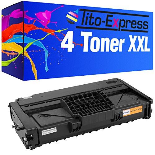 PlatinumSerie® 4x tóner láser compatible con Ricoh SP-211 Black SP212 SFNW SP212 SUW SP212 NW SP212 SNW SP213 NW