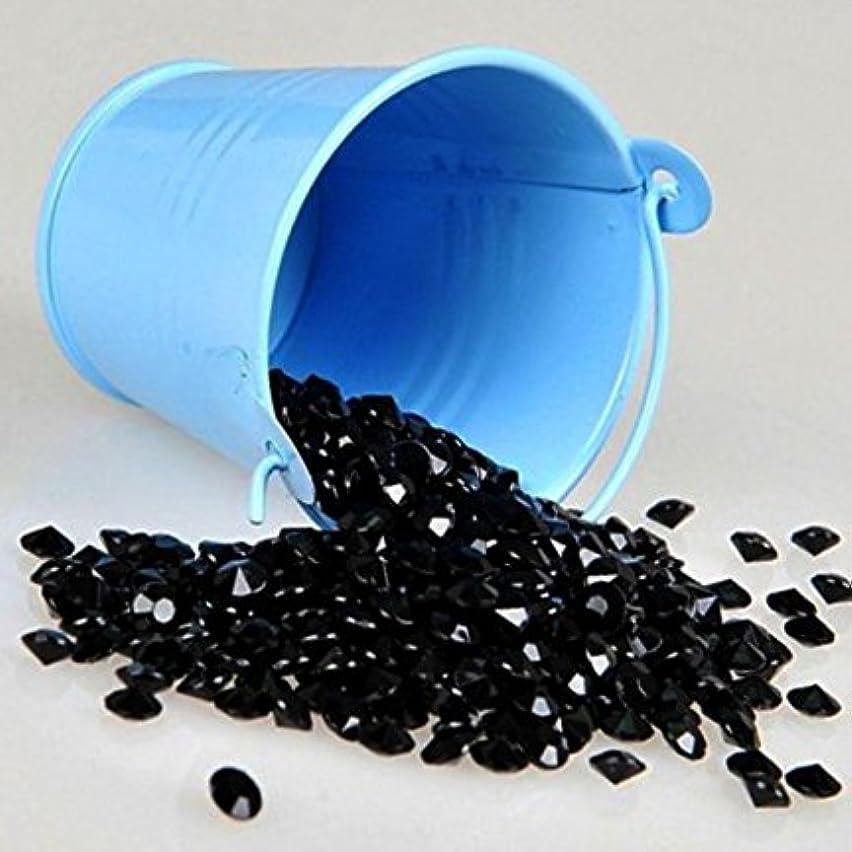Adorox (4000 Pcs ,1 Carat, 6.5mm Black Diamond Confetti Wedding Party Table Scatter Shower Decoration Vase Filler Gems.